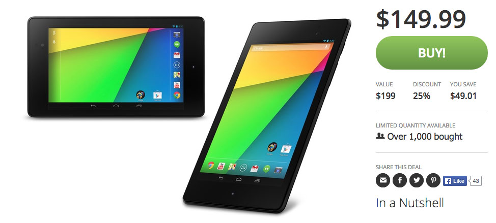 nexus 7 deal groupon