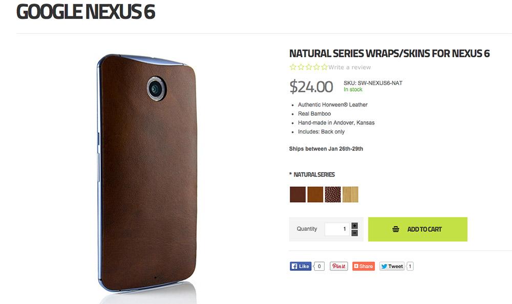 slickwraps nexus 6