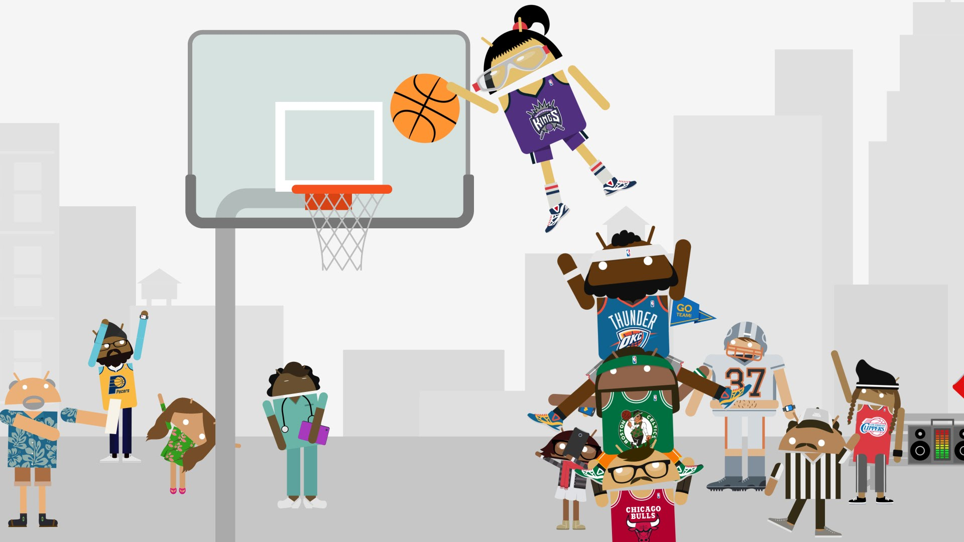 ​Android: Dunk-­A-­Thon