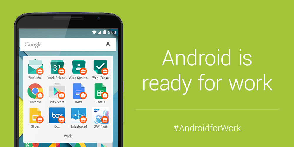 Google Announces Android For Work Program Makes Android