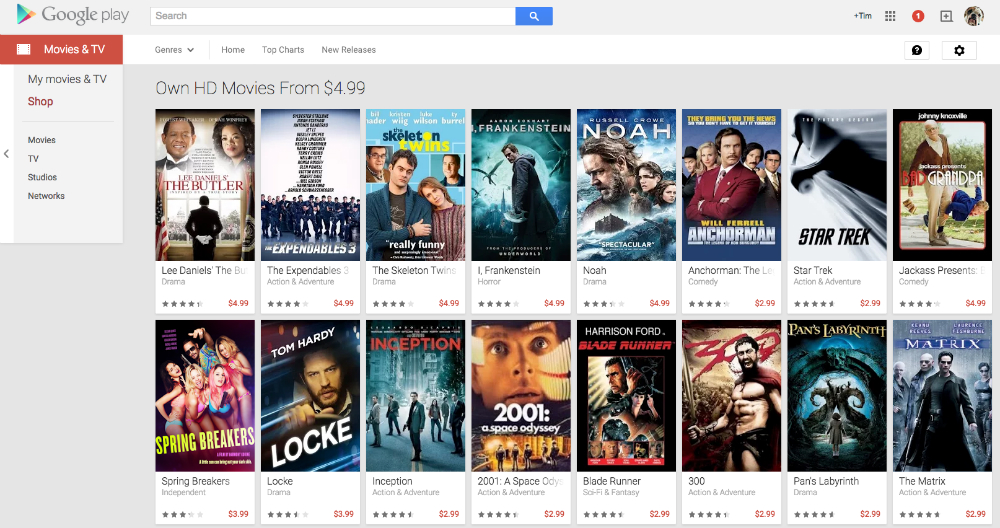 Google Play Movie Sale