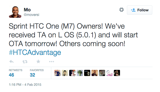 Mo_on_Twitter___Sprint_HTC_One__M7__Owners__We_ve_received_TA_on_L_OS__5_0_1__and_will_start_OTA_tomorrow__Others_coming_soon___HTCAdvantage_