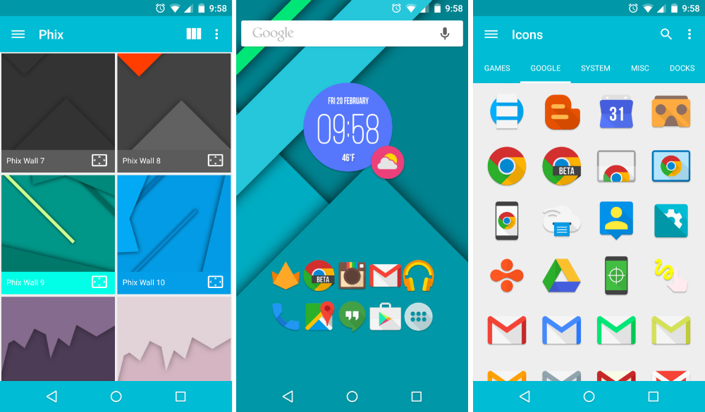 This Icon Pack is Hot: Phix – Droid Life