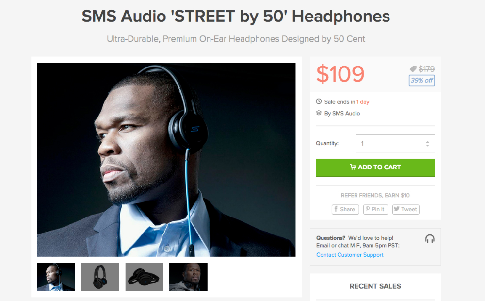 SMS Audio 50 Deal