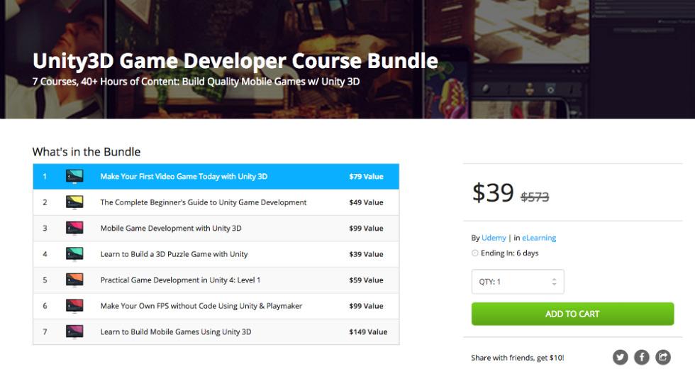 Deal: Unity3D Game Developer Course Bundle for $39 – Droid Life
