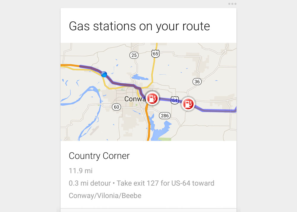 google now gas stations