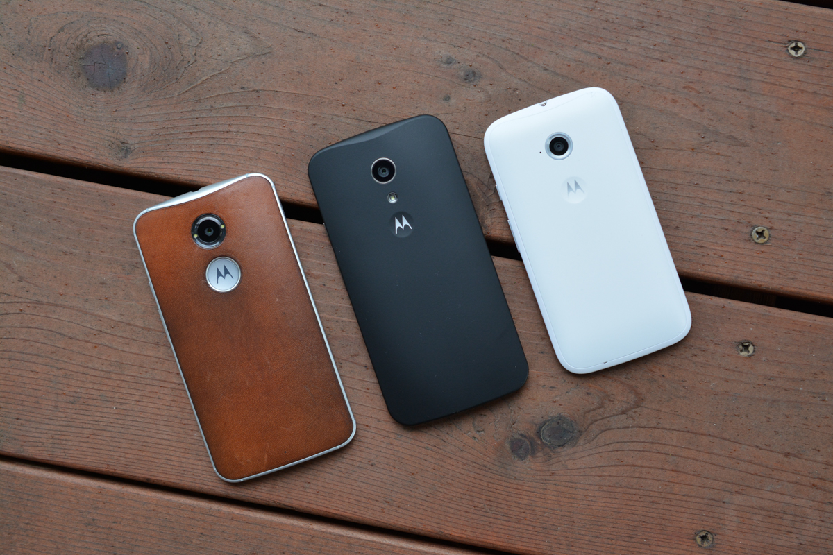 Comparison: Moto X (2nd Gen) vs. Moto G (2nd Gen) vs. Moto E (2nd ...