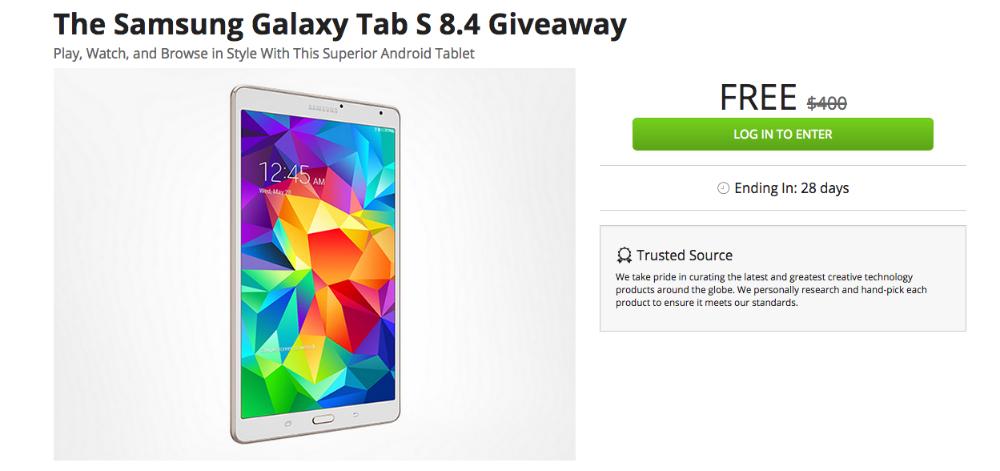 Galaxy Tab S Giveaway