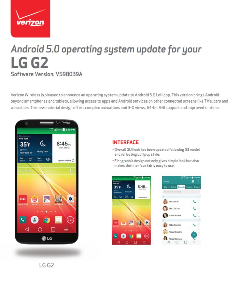 LG G2 VERIZON LOLLI2