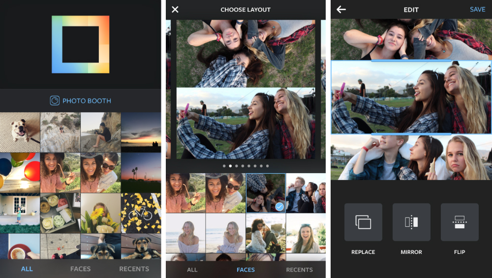 Layout: Photo Collage App Instagram