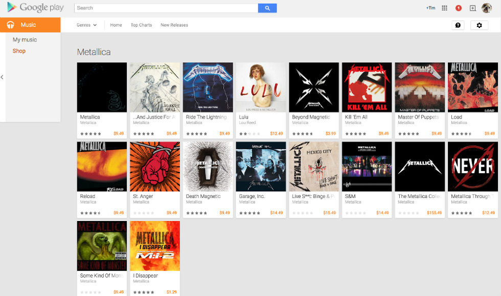 Metallica Discography Arrives On Google Play Available For