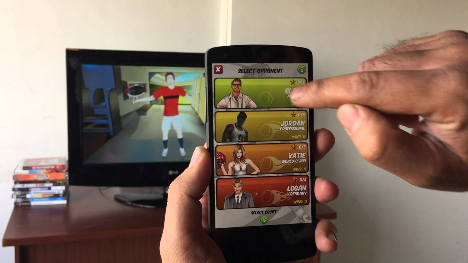 Motion Tennis Cast - Trailer for Android Smartphones & Chromecast