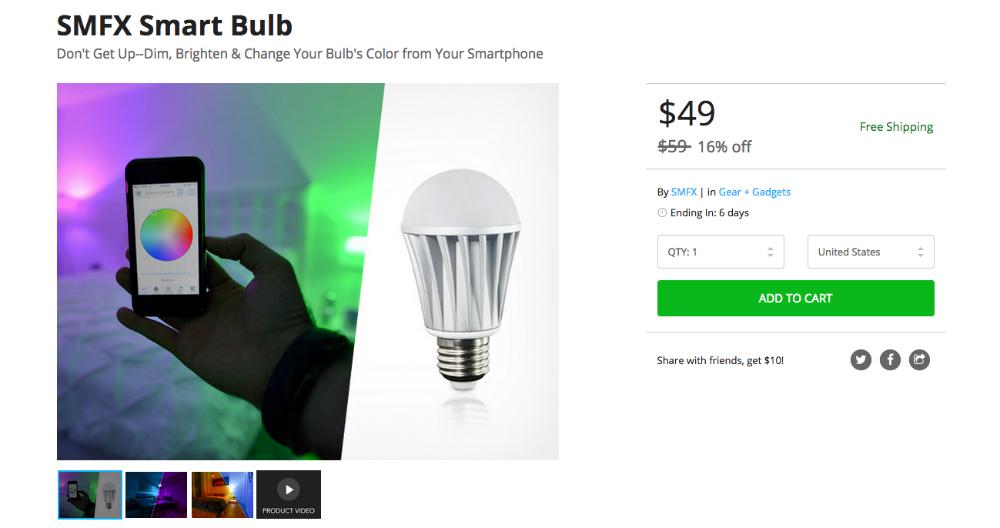 SMFX Smart Bulb