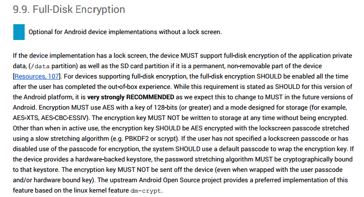 android full disk encryption