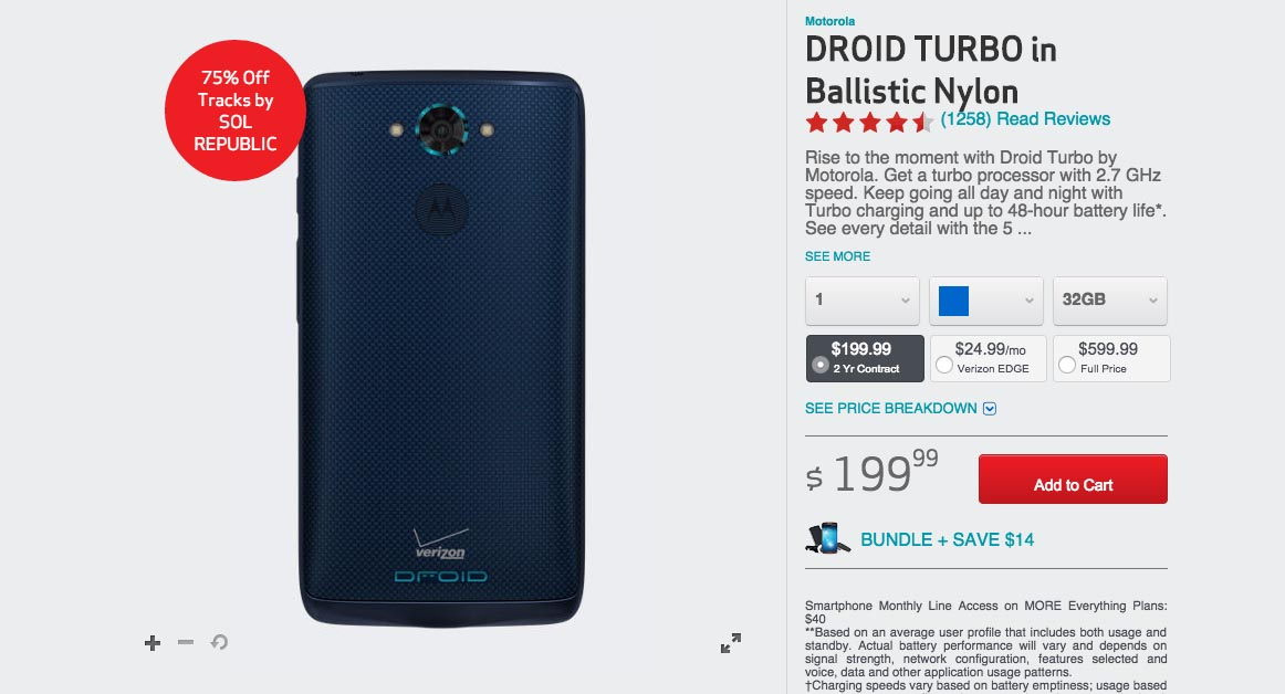 blue droid turbo