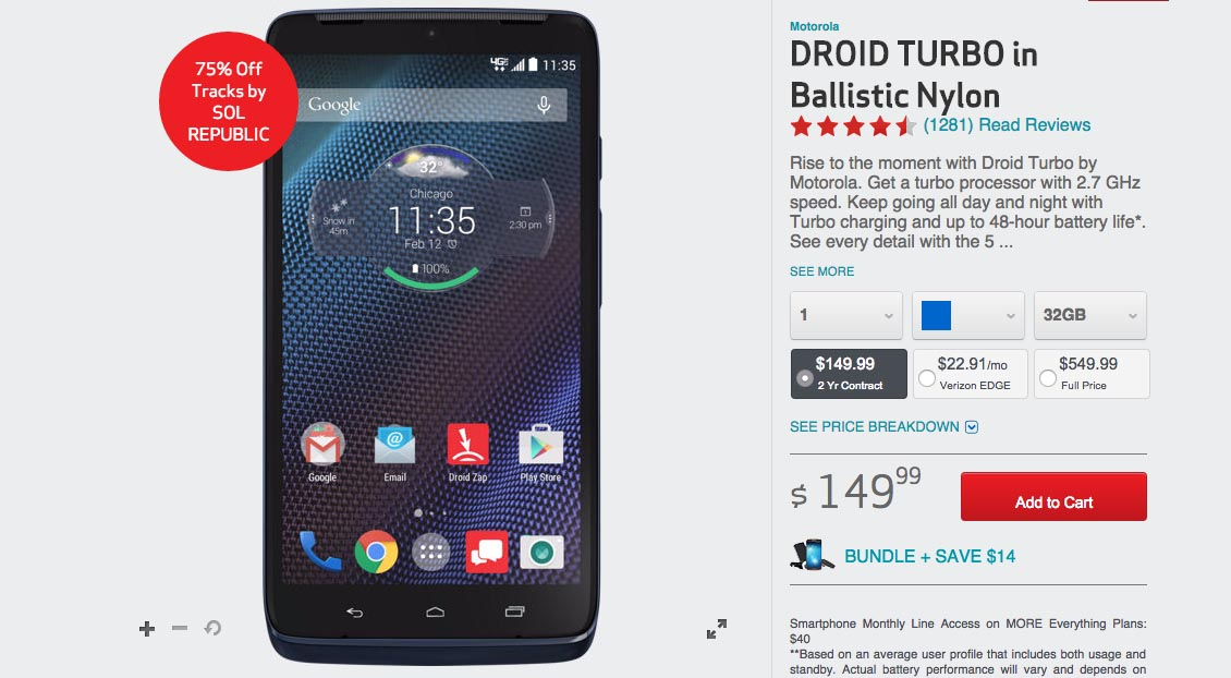 droid turbo price drop