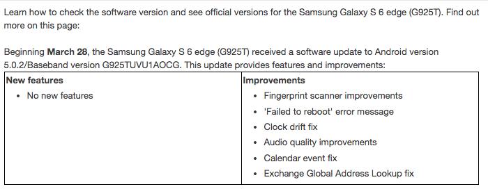 galaxy s6 update