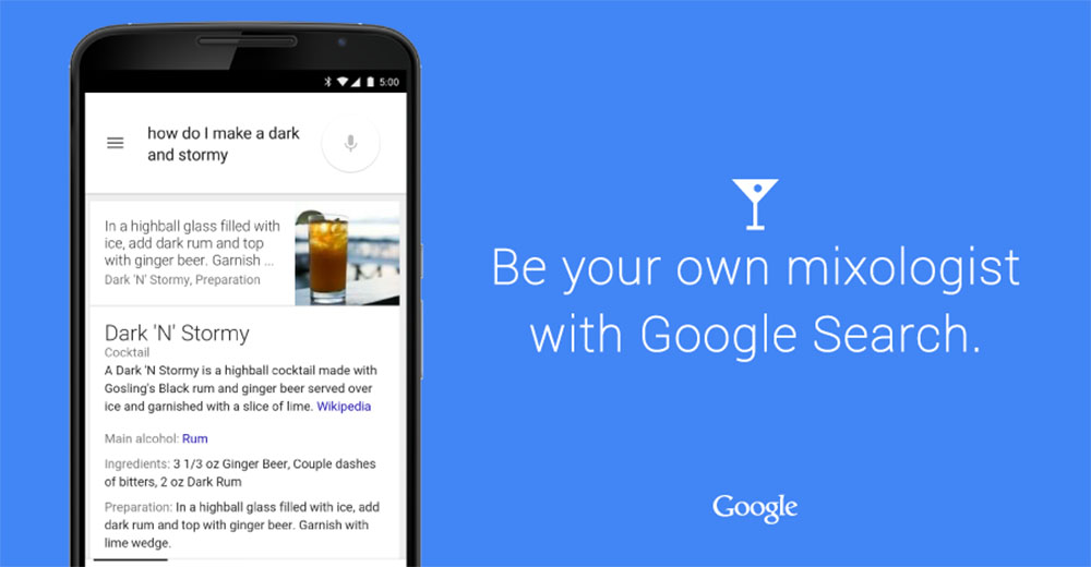 google cocktail search