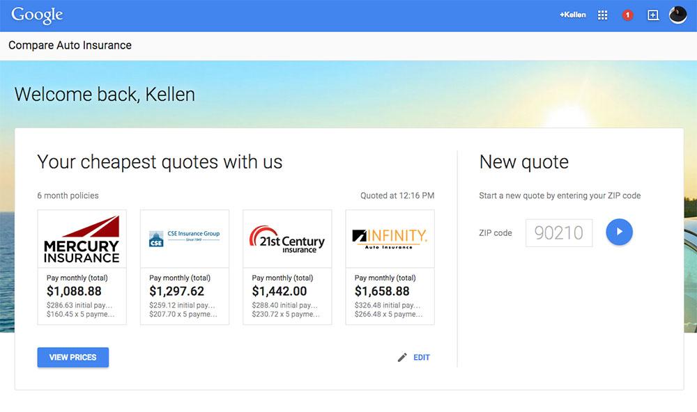 google insurance compare