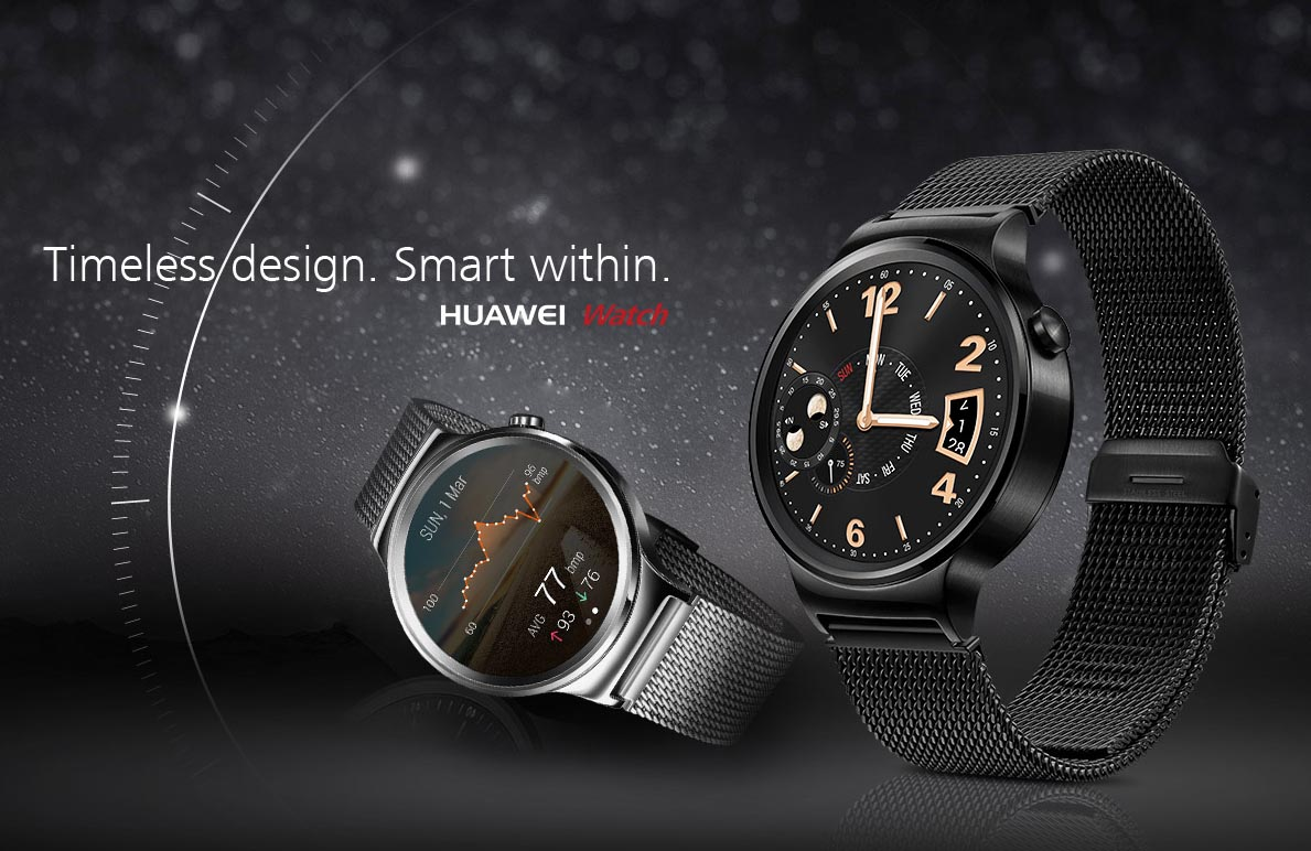Huawei Makes the Huawei Watch Official, Other Wearables ...