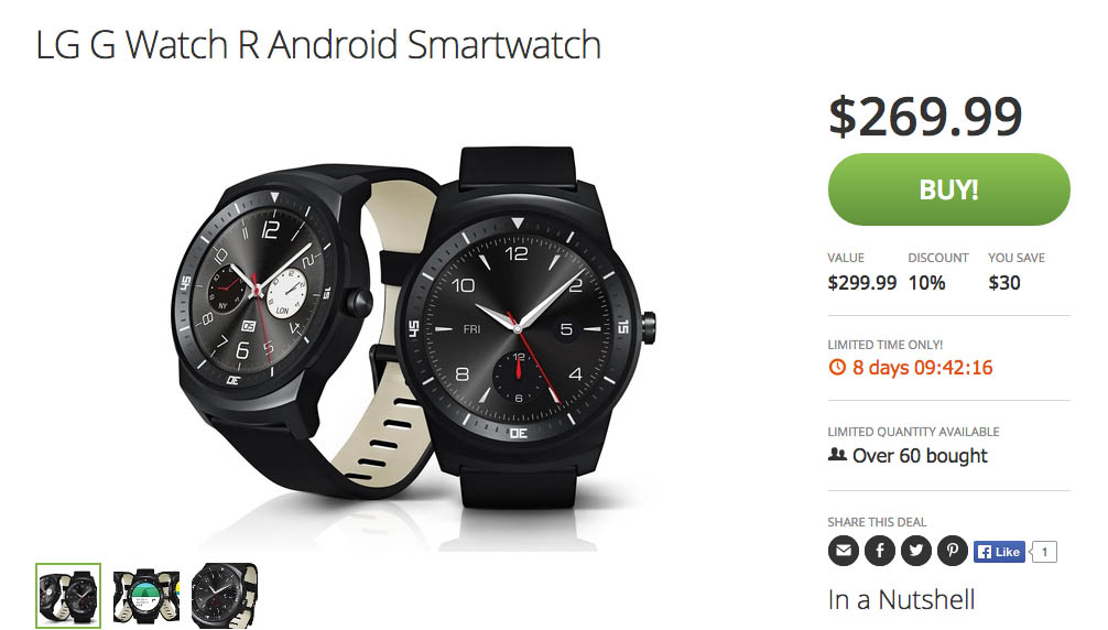 lg g watch r deal