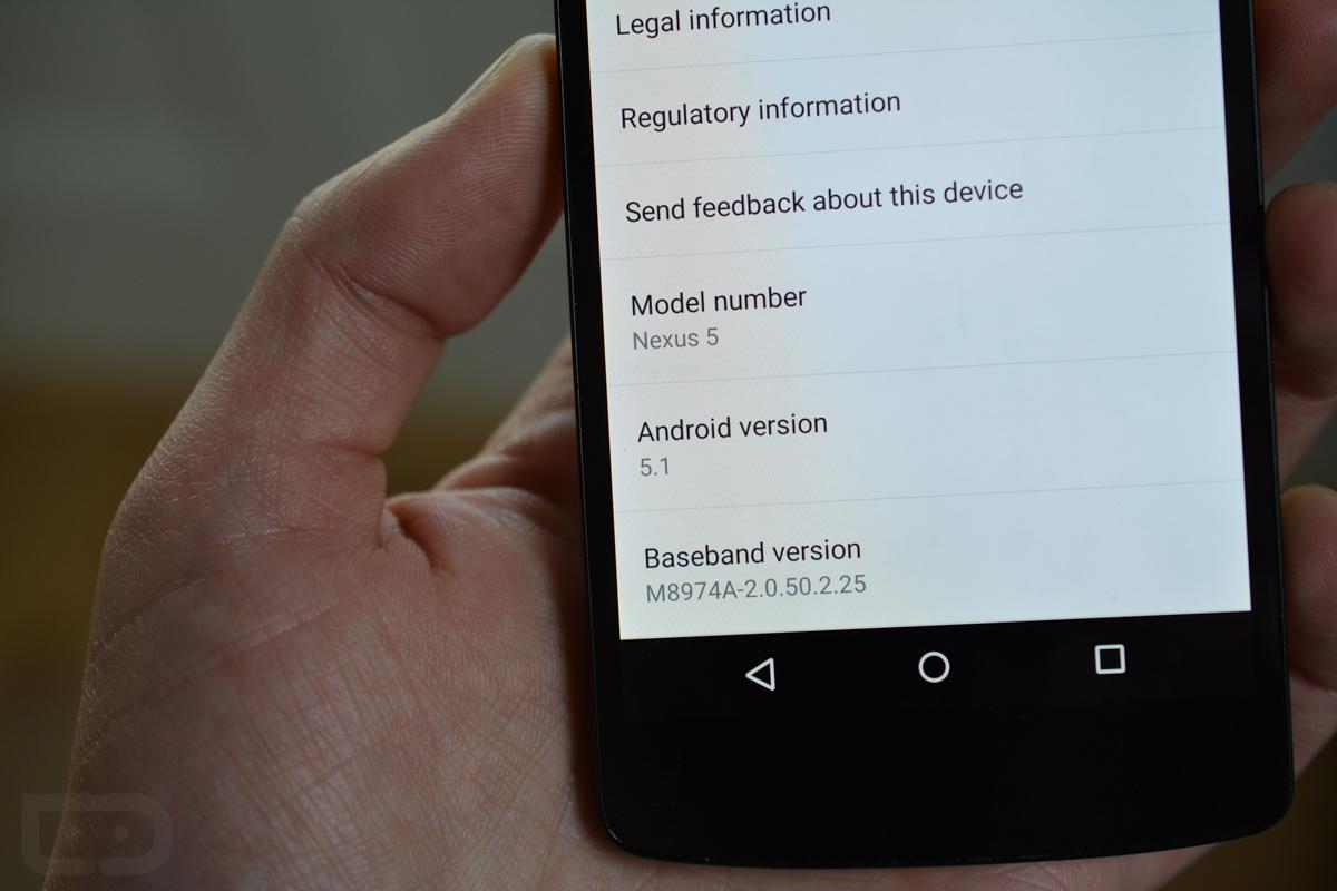 nexus 5 android 5.1