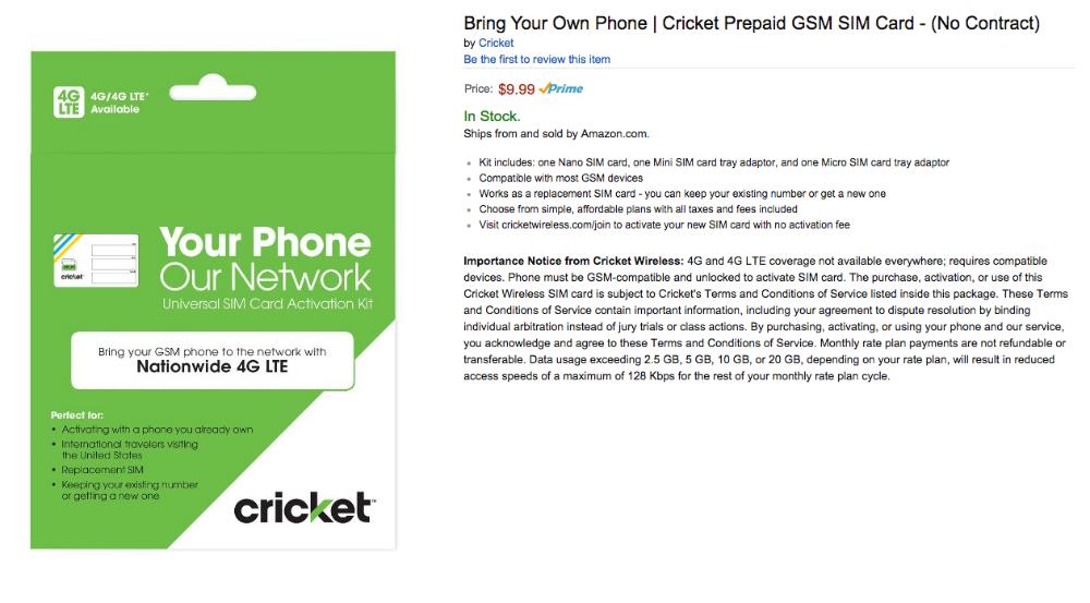 sim network unlock pin cricket