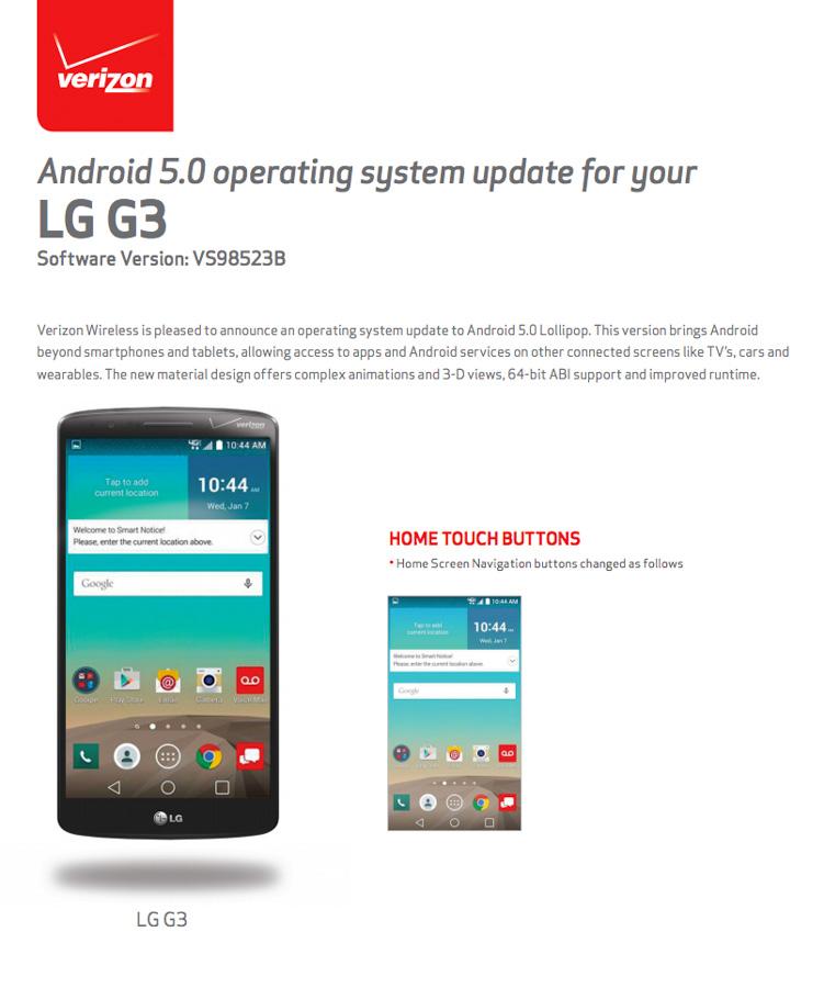 lg g3 verizon update