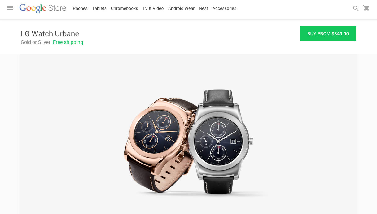 lg watch urbane google