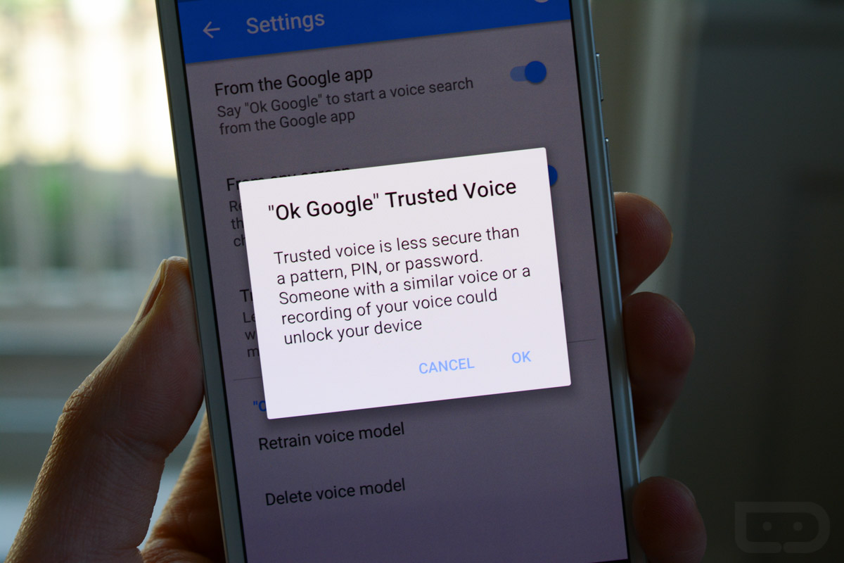 trusted voice ok google