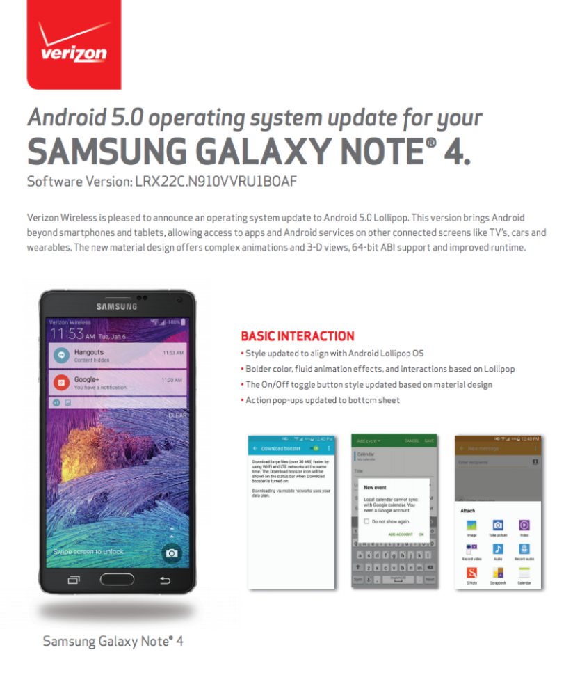 verizon note 4 lollipop1