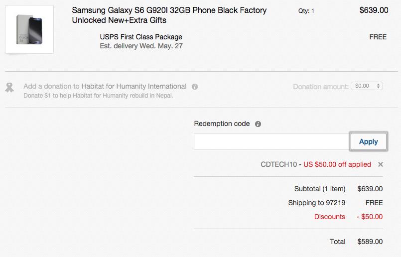 galaxy s6 deal ebay