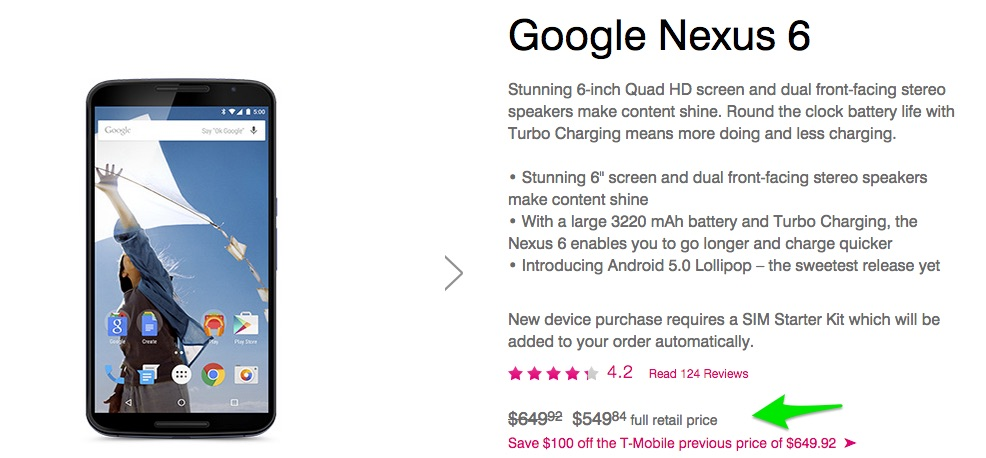 nexus 6 deal tmo