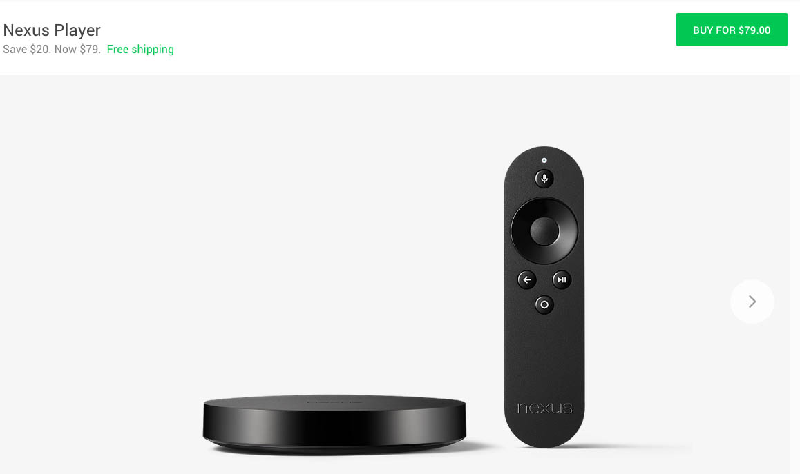 nexus player discount