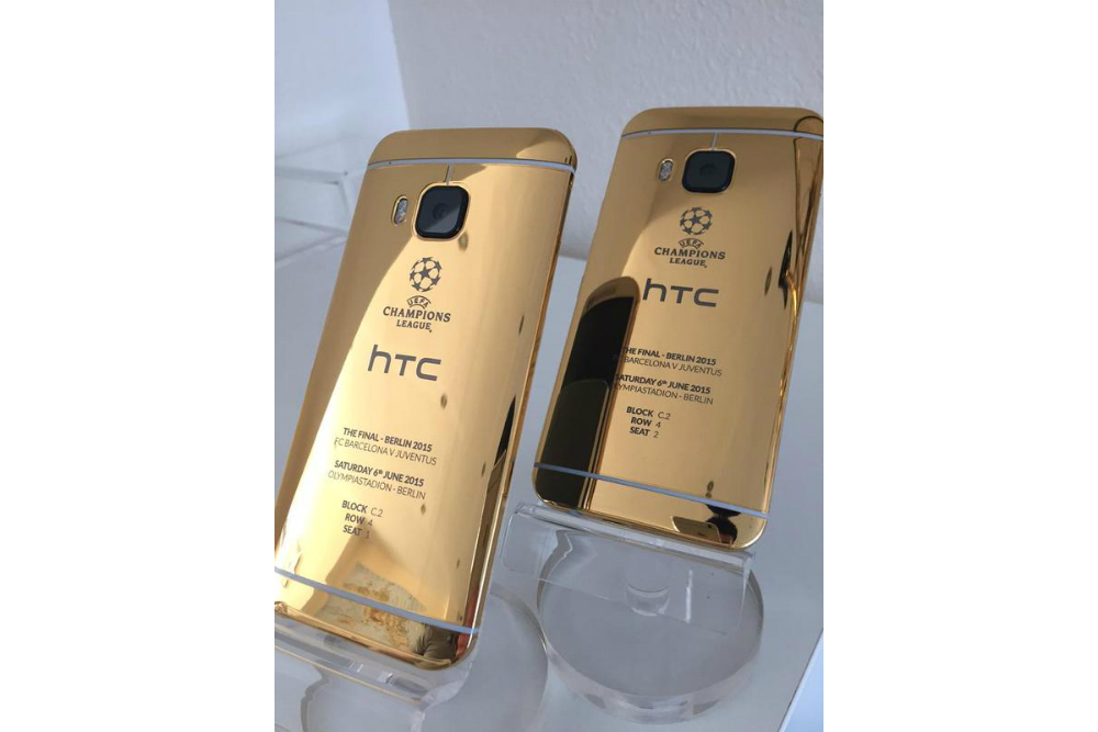 HTC Shows Off 24ct Gold One M9 to Celebrate Soccer ...