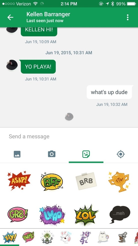 hangouts 4.0 android ios