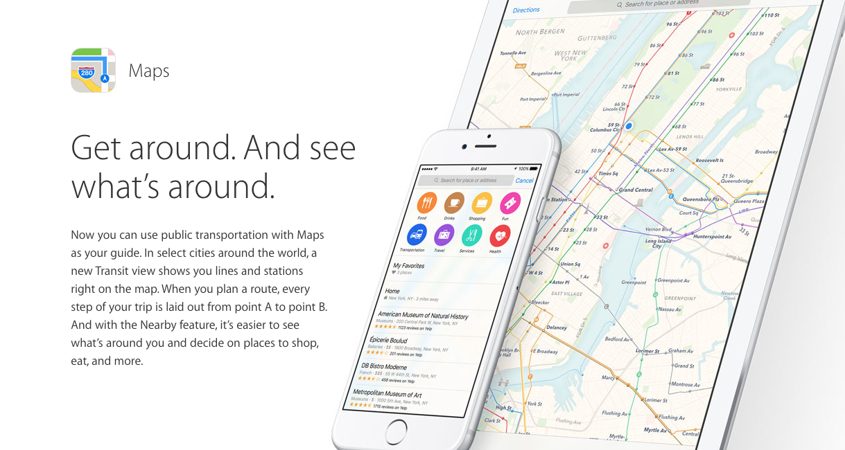 maps transit apple