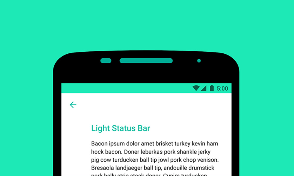 Android M Feature: Light Colored Status Bar Could Mean Dark