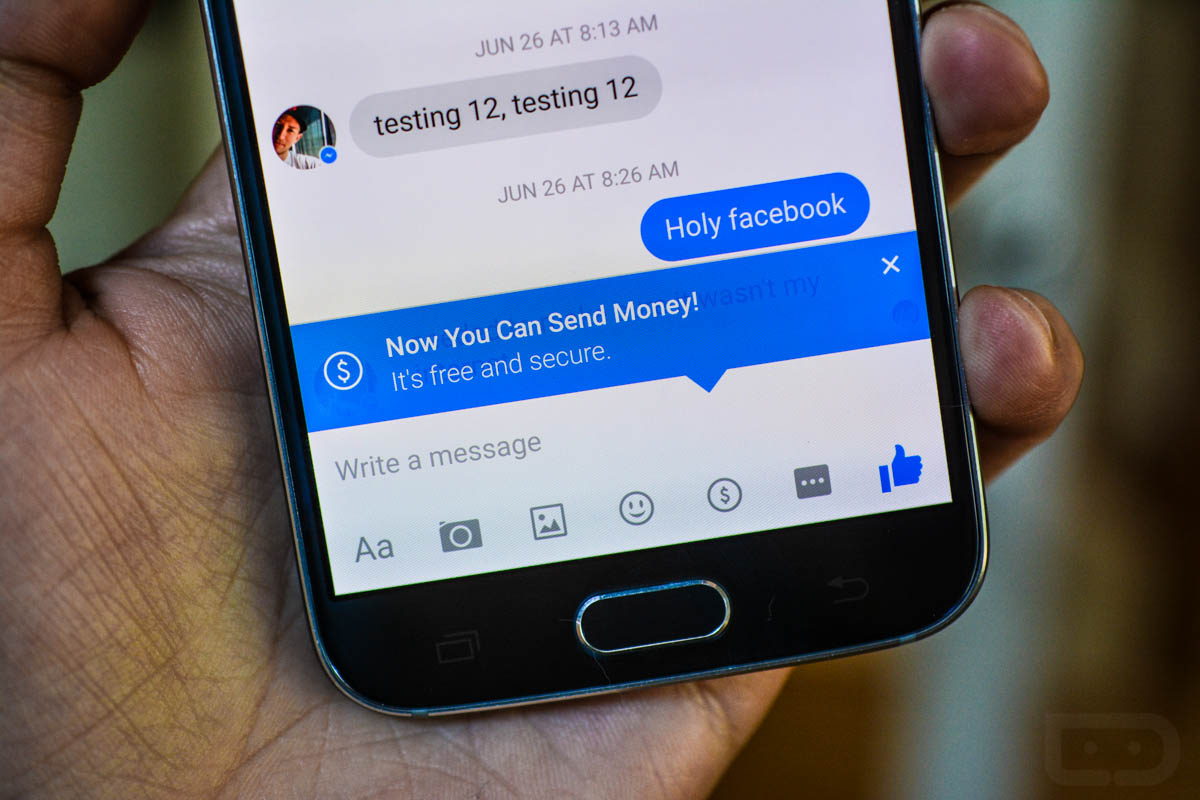facebook messenger money