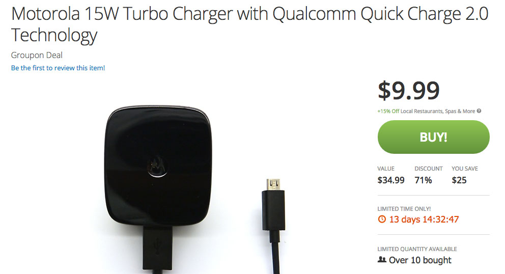 turbo charger deal