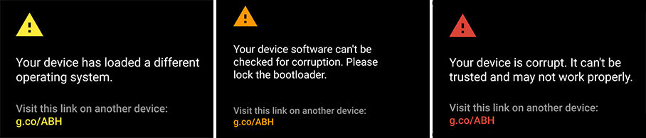 Android OS Warnings
