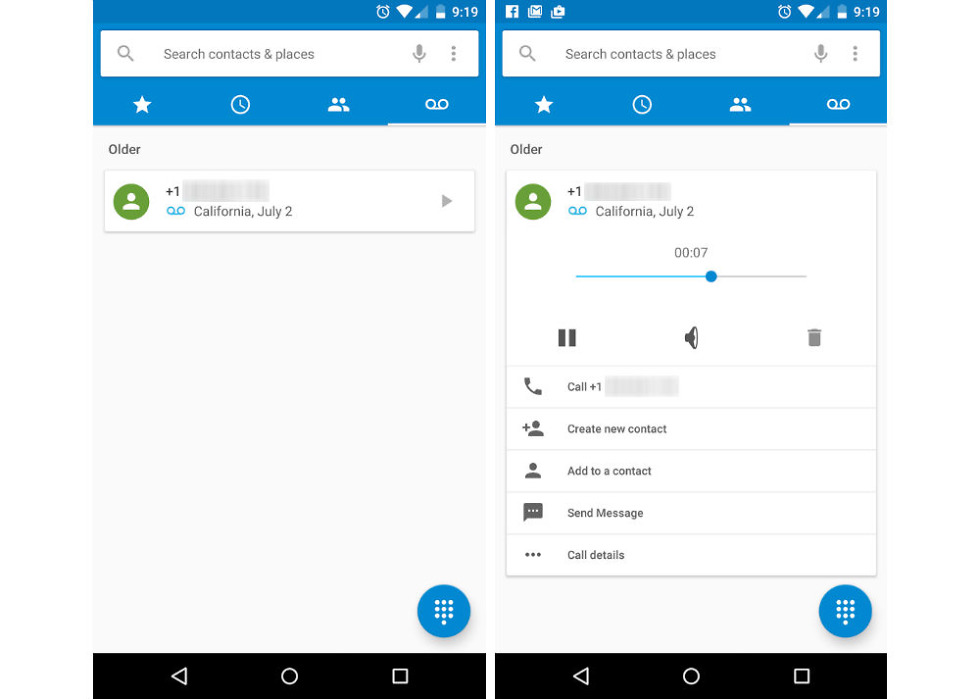 Android M Feature: Voicemail Tab in Dialer App, Listen to Your