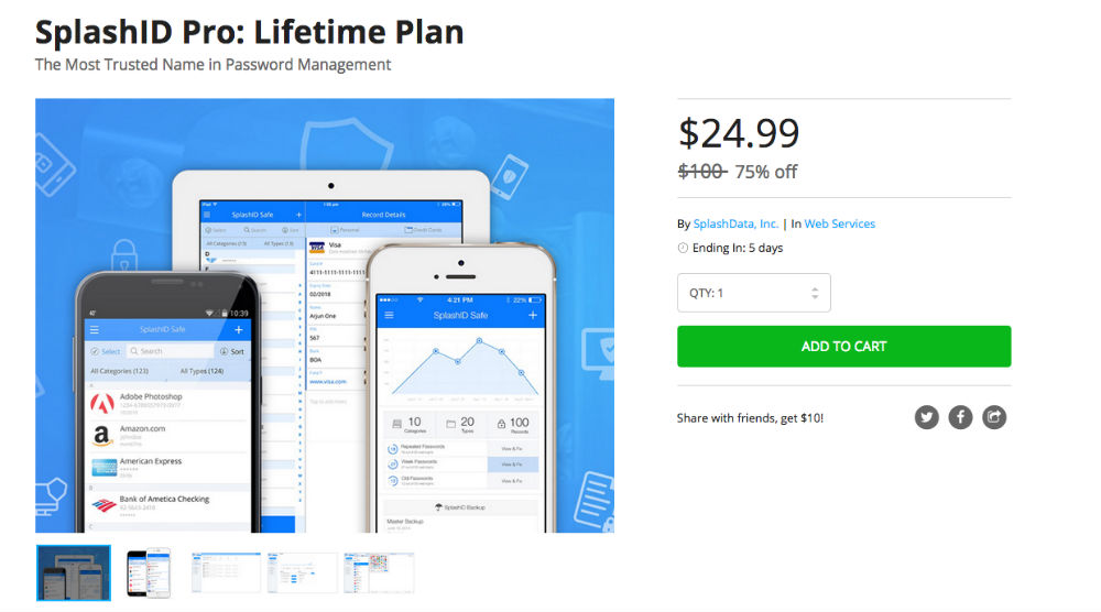 SplashID_Pro__Lifetime_Plan___DroidLife_Deals