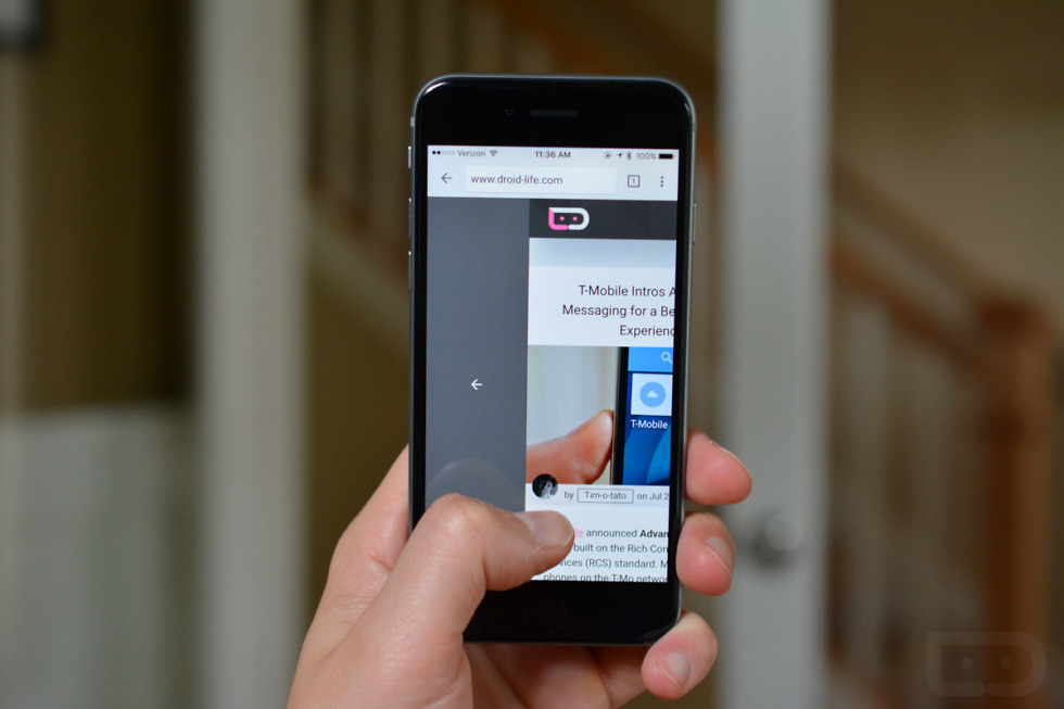 Chrome for iOS Gets Another Cool Gesture Not in the Android Version