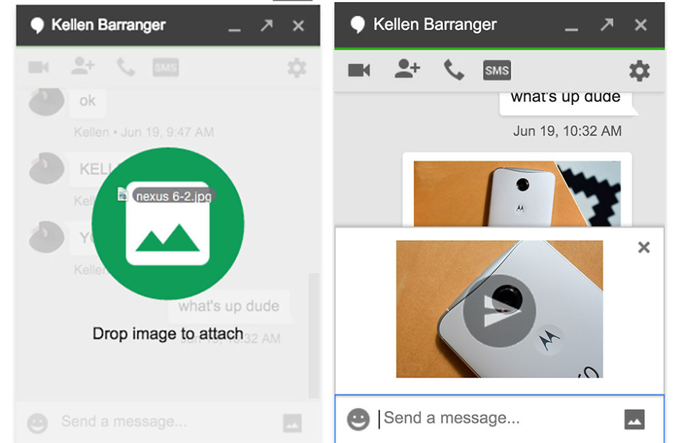 Tip: You Can Now Drag & Drop Photos Into Hangouts in Gmail