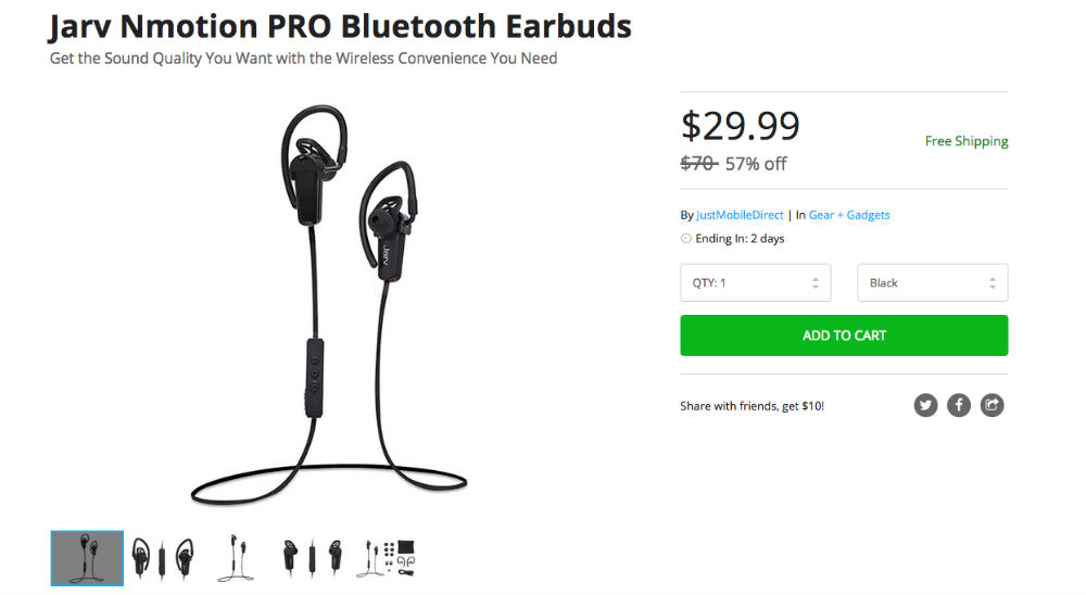 deal grab these jarv nmotion pro bluetooth earbuds for droid life. Black Bedroom Furniture Sets. Home Design Ideas
