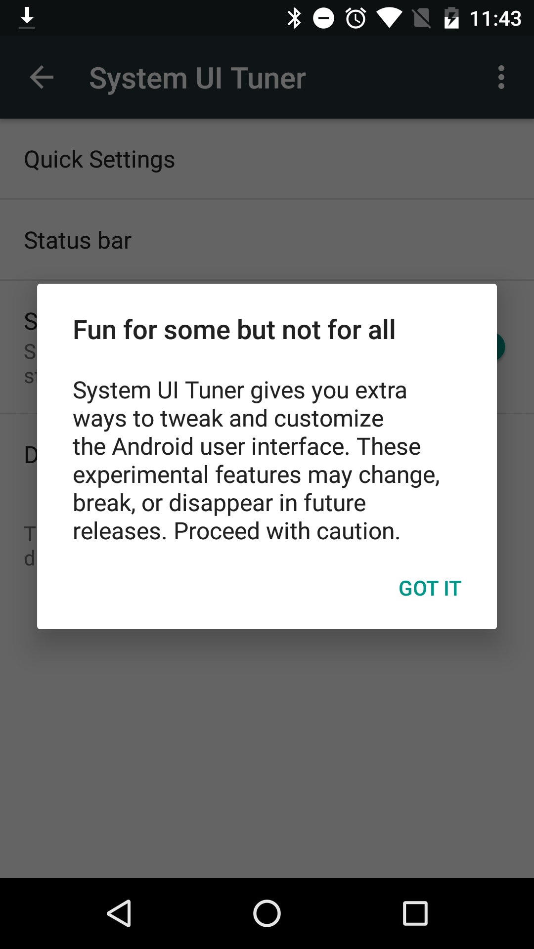 How to: Turn on System UI Tuner in Android 6 0 Marshmallow