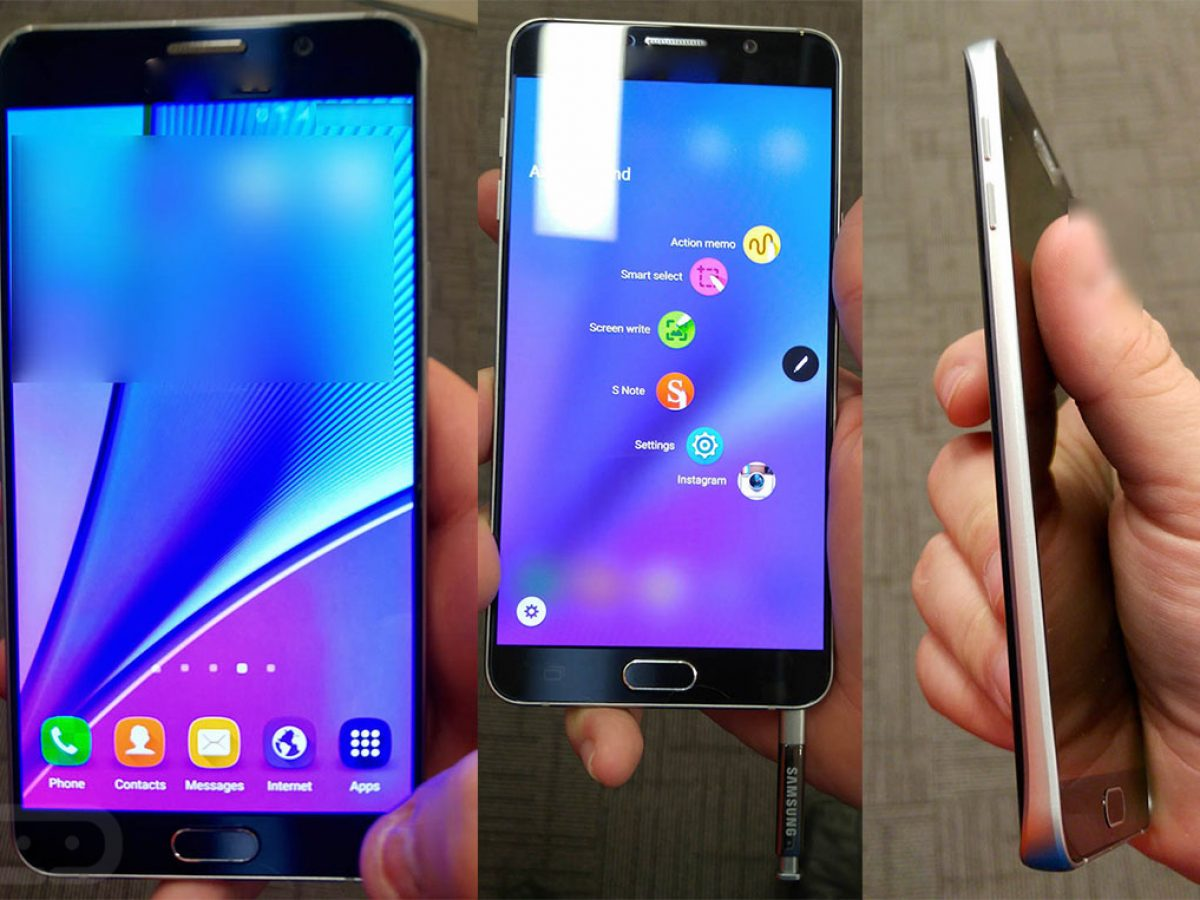 Here Is The Samsung Galaxy Note 5 In Hand