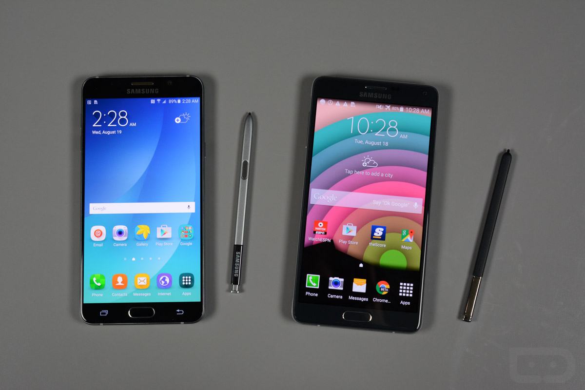 galaxy note 5 vs note 4-5