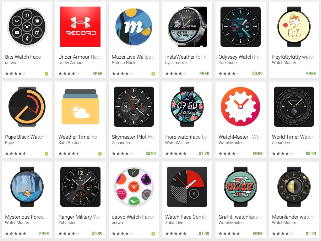 interactive watch faces